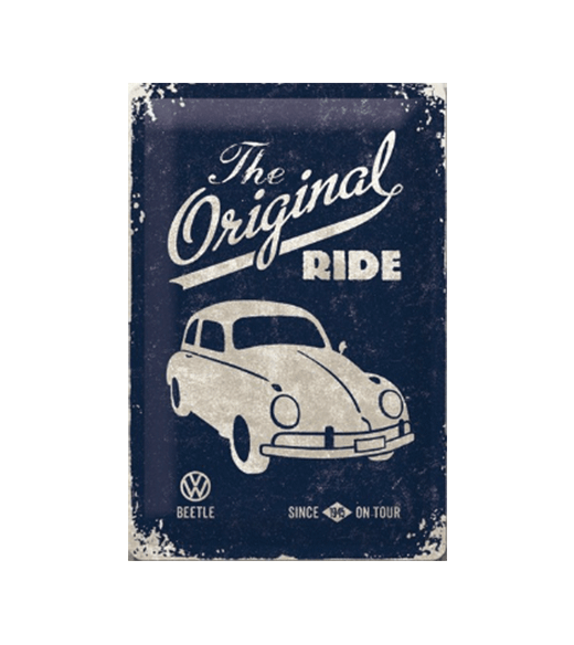 Volkswagen The Original Ride Beetle - metalen bord