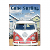 Volkswagen life's better at the beach - metalen bord