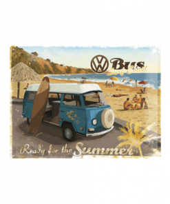 Volkswagen ready for the summer - metalen bord