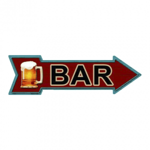 Bar - metalen bord