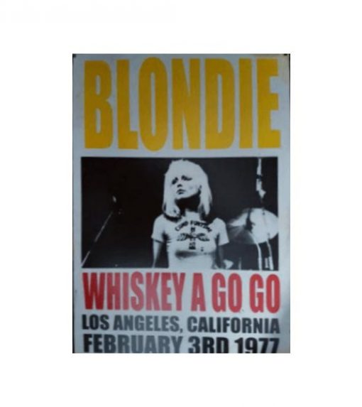 Blondie LA - metalen bord