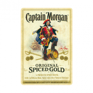 Captain morgan - metalen bord