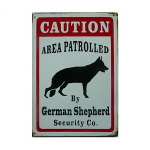 Caution German Shephard - metalen bord