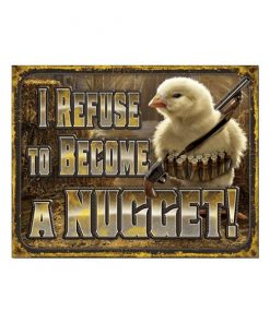 Chicken nugget - metalen bord