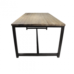 Eettafel blank teak ijzer - HSM collection