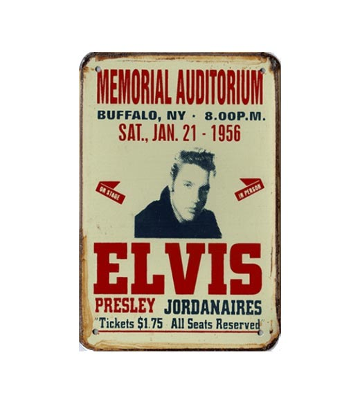 Elvis 1956 - metalen bord