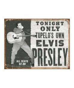 Elvis Presley tonight only - metalen bord