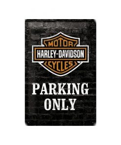 Harley Davidson parking only 2.0 - metalen bord
