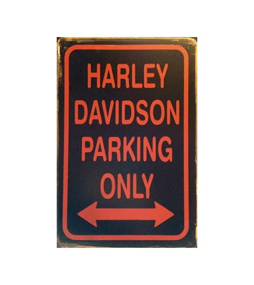 Harley Parking Only - metalen bord