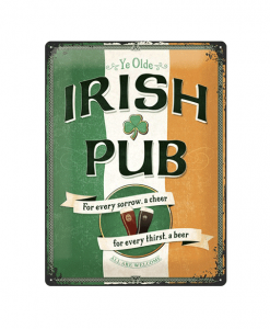 Irish Pub - metalen bord