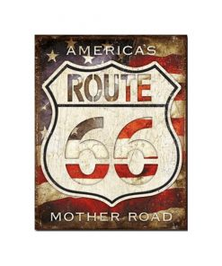 Route 66 U.S.A. mother road - metalen bord