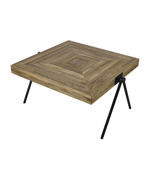 Salontafel Kubus Hout.Salontafel Mangohout Hsm Collection