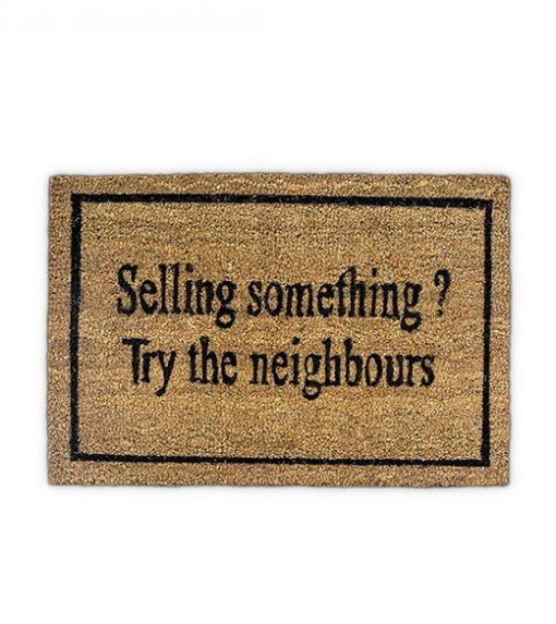 Selling something? - kokos deurmat