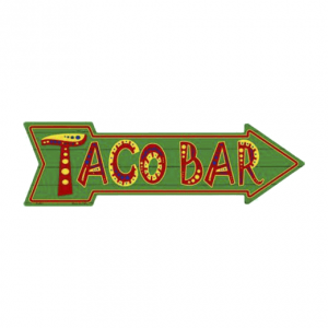 Taco bar - metalen bord