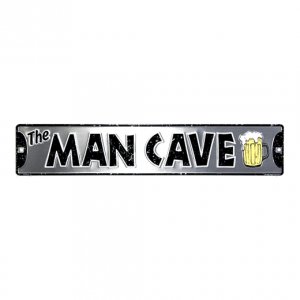 The Mancave straatbord - metalen bord
