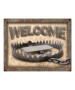 Welcome - metalen bord