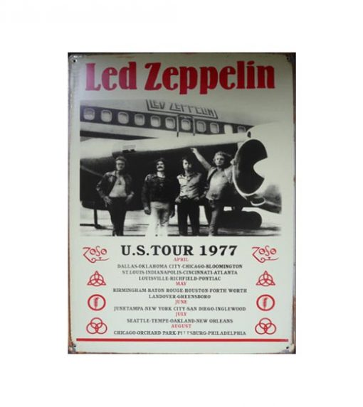Zeppelin Tour - metalen bord