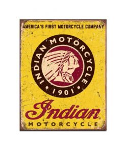 Indian motorcycle 1901 - metalen bord