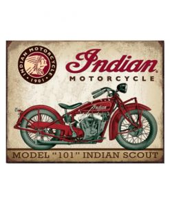 Indian motorcycle model 101 - metalen bord