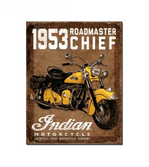Indian roadmaster chief - metalen bord