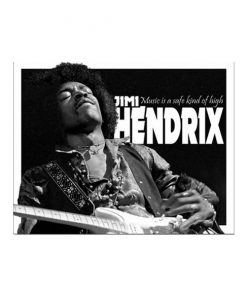 Jimi Hendrix, a kind of high - metalen bord