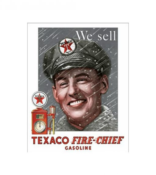 Texaco fire chief - metalen bord