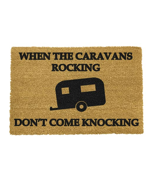 Caravan rocking? Don't come knocking kokos deurmat