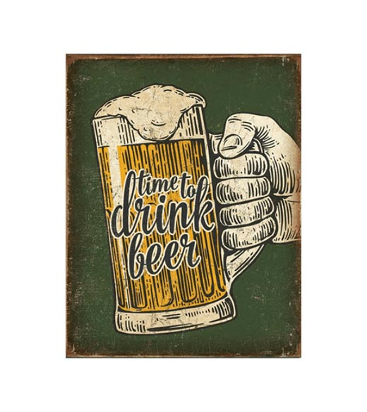 Drink beer - metalen bord