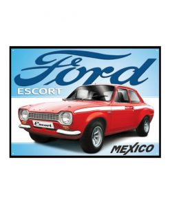 Ford escort - metalen bord