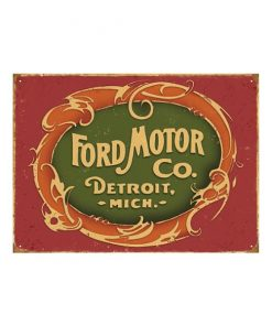 Ford motor co. - metalen bord