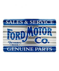Ford sales & service - metalen bord