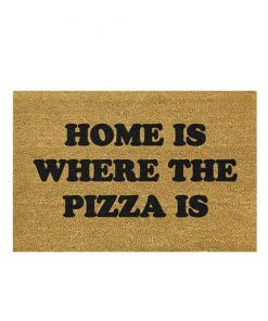 Home is where the pizza is kokos deurmat