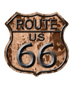 Route 66 roest - metalen bord