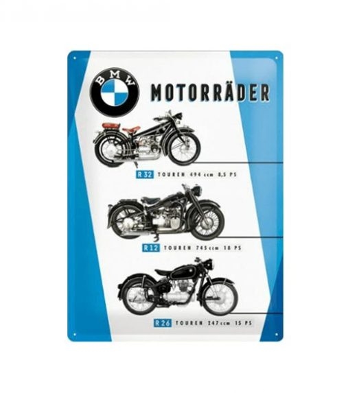 Bmw motors R32, R12, R26 - metalen bord