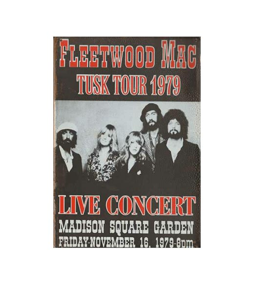Fleetwood tusk tour 1979 - metalen bord