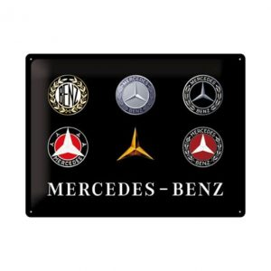 Mercedes benz logo evolutie - metalen bord