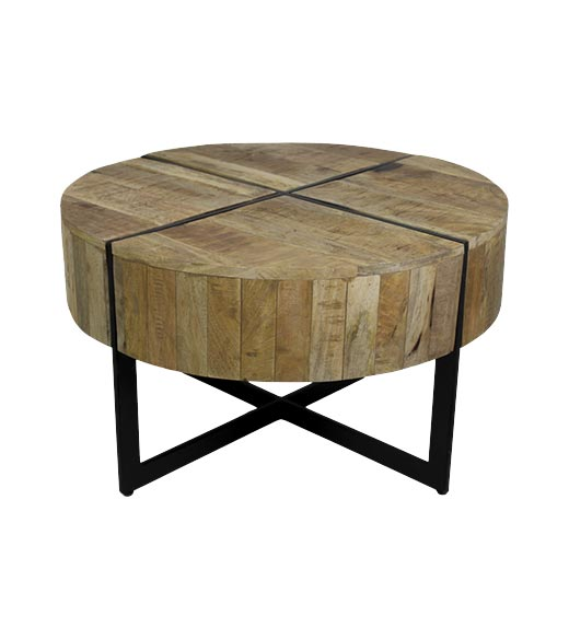 ronde salontafel industrieel gib - hsm collection |