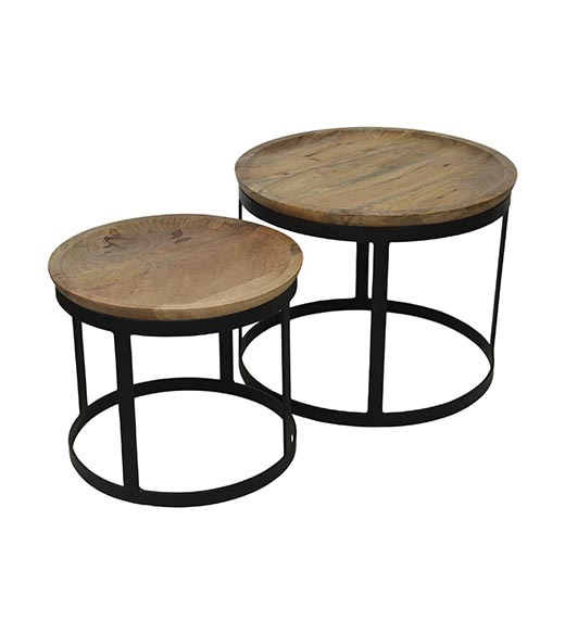 Ronde Salontafel Set.Ronde Salontafel Set Industrieel Gray Hsm Collection