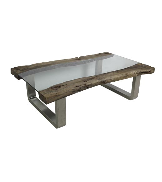 salontafel industrieel brock 125 x 78cm hout - hsm collection |