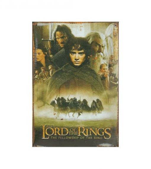 The lord of the rings - metalen bord
