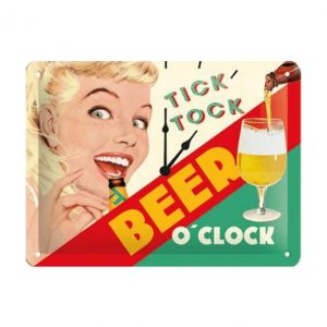 Beer o'clock - metalen bord