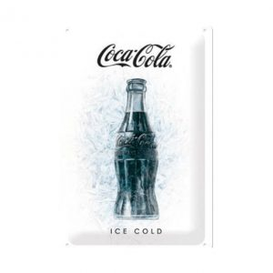 Coca Cola ice cold - metalen bord
