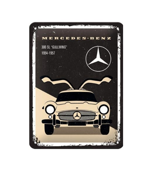 Mercedes Benz Gullwing - metalen bord