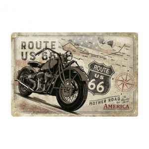 Route 66 USA map - metalen bord