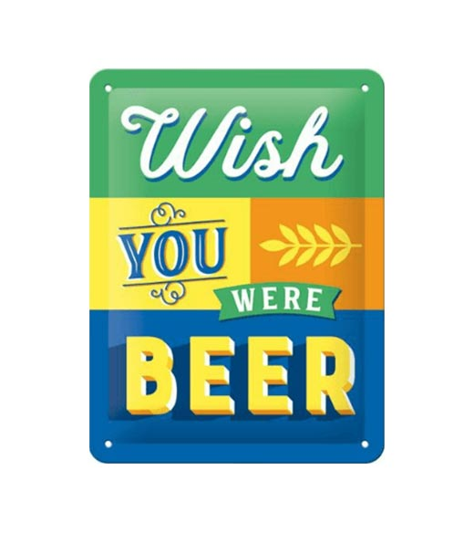 Wish beer - metalen bord