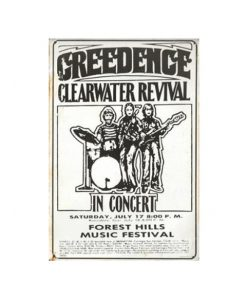 Creedence Clearwater Revival - metalen bord