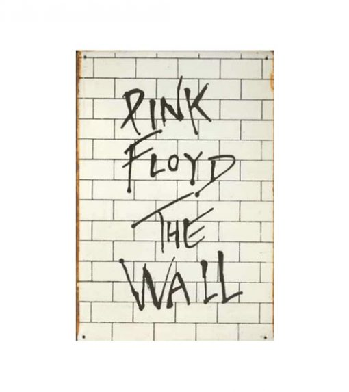 Pink Floyd The Wall - metalen bord