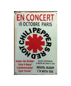 Red Hot Chili Peppers en Concert - metalen bord