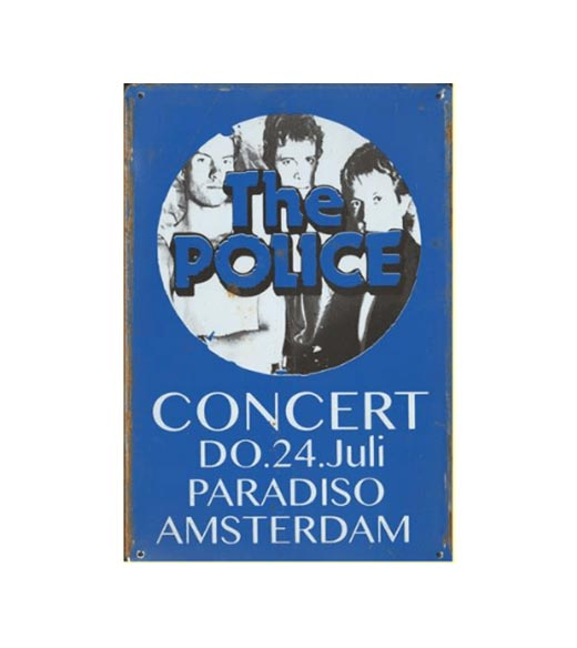 The Police concert in Paradiso - metalen bord