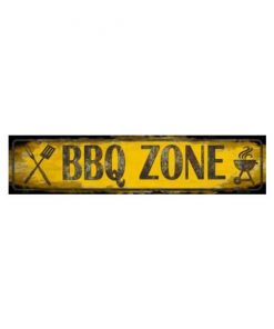 Barbeque zone - metalen bord
